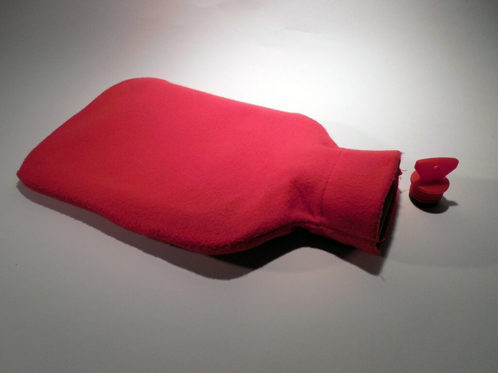 rote Bettflasche